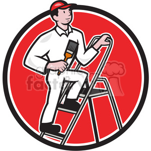 painter ladder side clipart. Royalty-free image # 389891