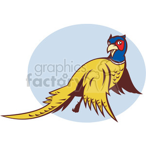 cartoon retro pheasant bird birds animals
