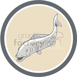 cartoon fish front clipart. Commercial use image # 389966