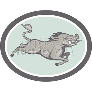 boar running clipart. Royalty-free image # 389976