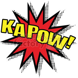 kapow burst onomatopoeia clip art vector images clipart. Commercial use image # 390032