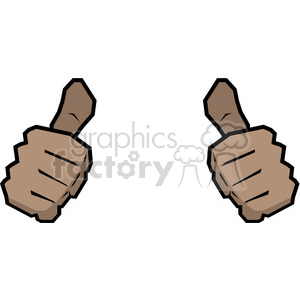 two thumbs up this person image African American clipart. Royalty-free image # 390062