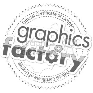 GF crest gray clipart. Commercial use image # 390072