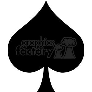 spade vector outline clipart. Commercial use image # 390082