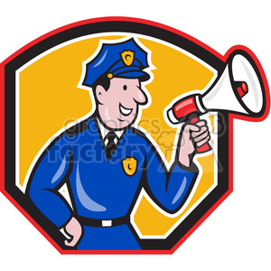 policeman megaphone side SHIELD clipart. Commercial use image # 390362