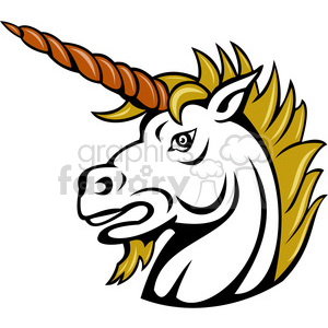 angry unicorn clipart. Royalty-free image # 390374