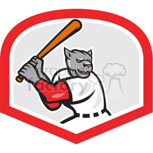 baseball hitter bat panther side clipart. Commercial use image # 390384