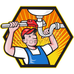 plumber sink pipe wrench clipart. Royalty-free image # 390394
