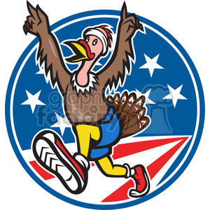 turkey trot run clipart. Commercial use image # 390414