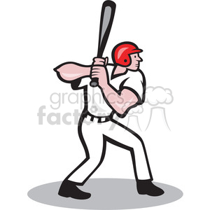 Baseball Player Batting Side On Clipart Royalty Free Gif