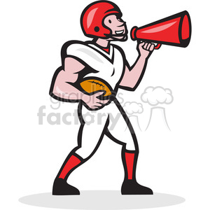 american football qb bullhorn clipart. Royalty-free image # 390436