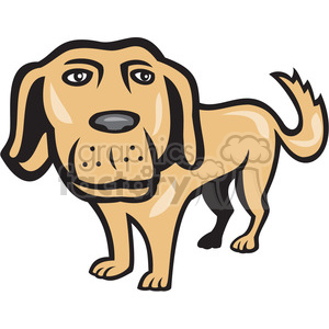 dog big head front clipart. Royalty-free image # 390438