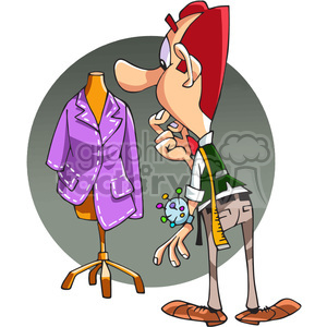 male fashion designer cartoon clipart. Royalty-free image # 390665