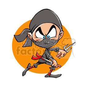 cartoon ninja outline clipart. Royalty-free image # 390675