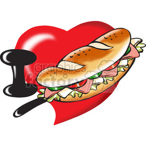 I love sandwiches cartoon clipart. Royalty-free image # 390710