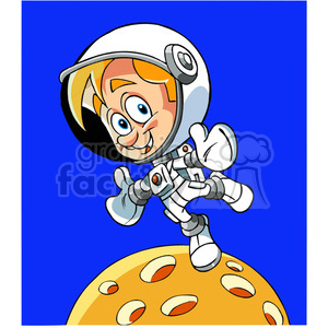 cartoon astronaut clipart. Commercial use image # 390726