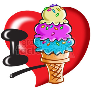 I love ice cream clipart. Royalty-free image # 390776