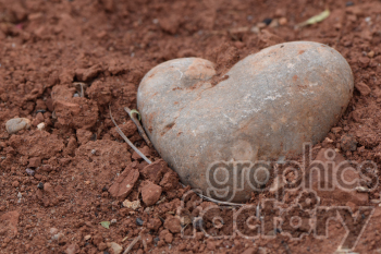 rock shaped like heart clipart. Commercial use image # 390980