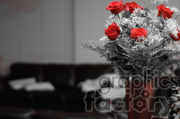red roses in a vase clipart. Royalty-free image # 391075