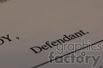 defendant document clipart. Commercial use image # 391095