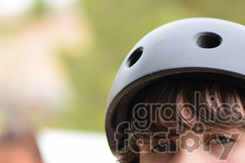 teen biking helmet clipart. Commercial use image # 391150