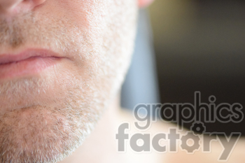 close up male face
