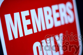 members only sign photo. Royalty-free photo # 391185