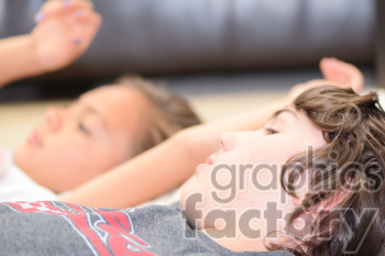 kids watching TV photo. Royalty-free photo # 391270