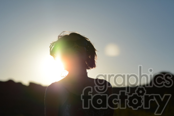 female during sunset photo. Royalty-free photo # 391280