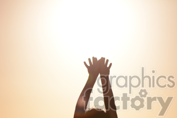 300dpi RG sunset glare sun sunny spring summer hands kids child people person stretching reach sky