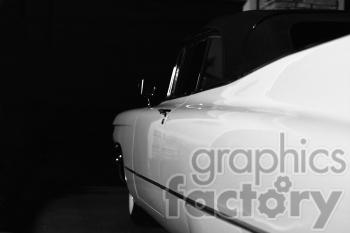 black and white Cadillac photo clipart. Commercial use image # 391320