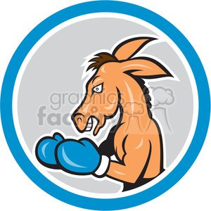cartoon character mascot people funny boxer boxing punch fight fighter democrat political politics debate debating donkey