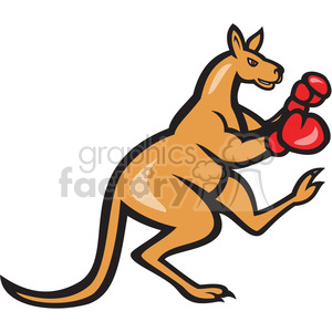 kangaroo boxer clipart. Commercial use image # 391400