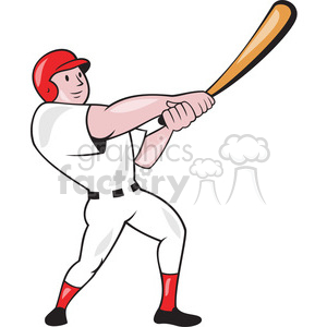 baseball player batting point up front clipart. Royalty-free image # 391420