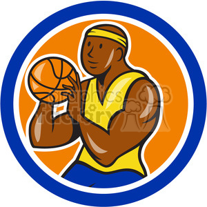 basketball player shoot ball logo