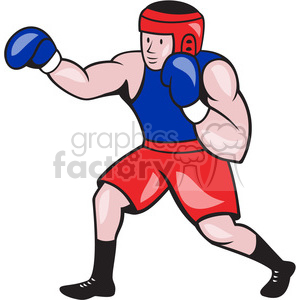 boxer punching side clipart. Commercial use image # 391440
