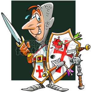 cartoon knight in shining armor clipart. Commercial use image # 391503