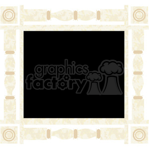 cartoon frame chalkboard window board