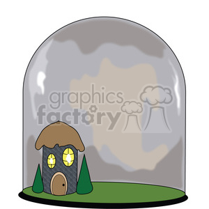 Glass Terrarium Fairy House clipart. Royalty-free image # 391536