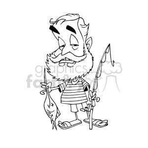 Ernest Hemingway bw cartoon caricature clipart. Royalty-free image # 391666