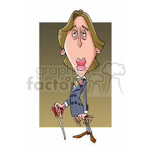 Oscar Wilde cartoon caricature clipart. Royalty-free image # 391706