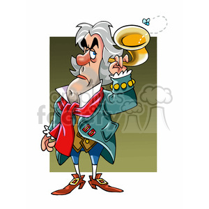 Ludwig Van Beethoven cartoon caricature clipart. Royalty-free image # 391746