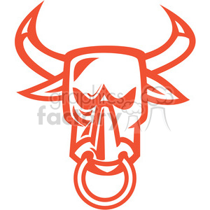 bull head front RED shape