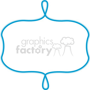 blue lines frame swirls boutique design border 13 clipart. Royalty-free image # 392484