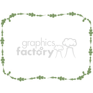green floral frame swirls boutique design border 11