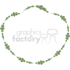 green floral frame swirls boutique design border 4 clipart. Royalty-free image # 392501