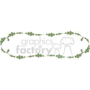 green floral frame swirls boutique design border 5 clipart. Commercial use image # 392506