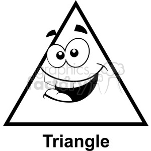 Royalty Free Geometry Triangle Cartoon Face Silly Math