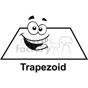 geometry trapezoid cartoon face math clip art graphics images clipart. Royalty-free image # 392523