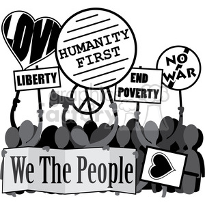 protesting we the people humanity first image clipart. Royalty-free image # 392553